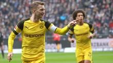 sport kompakt Reus und Witsel bejubeln Tor gegen Frankfurt