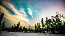 Die Polarlichter fernab jeglicher Lichtquellen