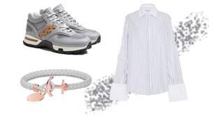Armband, Bluse und Schuhe zum Gestalten