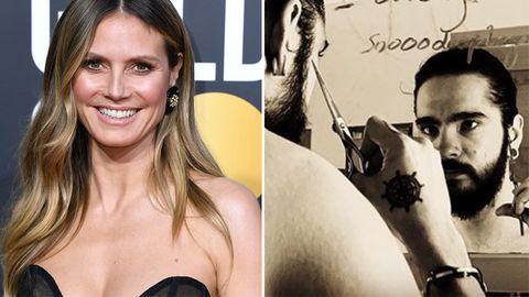 Heidi Klum: Diese Liebesbotschaft hinterlässt sie Tom Kaulitz am Badezimmerspiegel