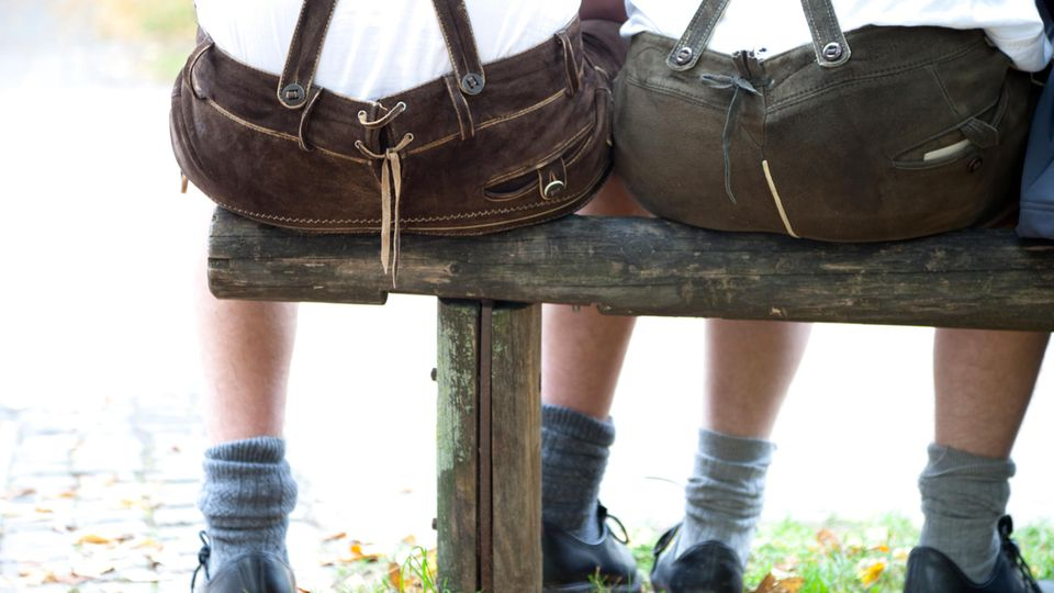 Männer in Lederhosen