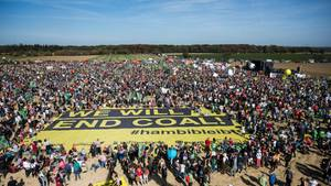 #hambibleibt-Demonstration am Hambacher Forst