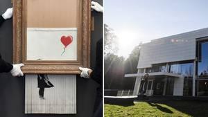 """""""Girl With Balloon"""": Banksys legendäres Schredderbild kann man jetzt in Deutschland sehen"""