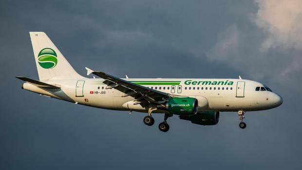 Ein Airbus A319 von Germania im Landeanflug: Die Fluggesellschafthat beim Amtsgericht Berlin-Charlottenburg Insolvenz beantragt.