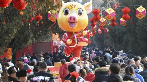 Google Doodle - Mond-Neujahr - Frühlingsfest - Schwein
