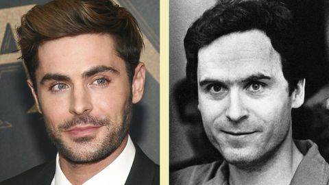 Zac Efron (l.) spielt in dem Film Ted Bundy