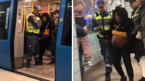 Stockholm: Sicherheitsbeamte reißen hochschwangere Frau aus der U-Bahn