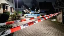 Absperrband in Bochum im Stadtteil Hordel - hier wurde eingebrochen