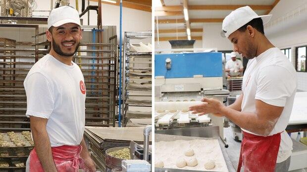 Mit Freude bei der Arbeit: Semiallah (links) und Abraham (rechts) haben ihren Traumjob gefunden