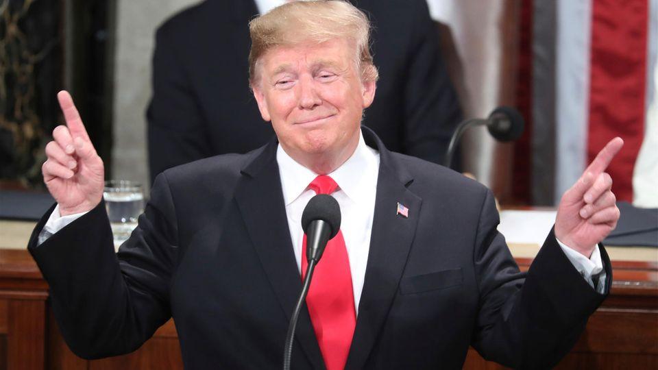 """Donald Trump hat es während seiner """"State of the Union"""" mit den Fakten nicht so genau genommen."""