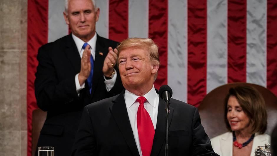 """Donald Trump: Die wichtigsten Aussagen seiner """"State of Union""""-Rede"""
