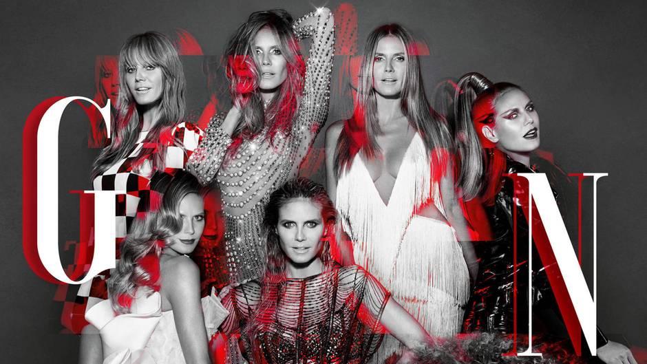 Heidi Klum ist sieben Mal auf dem neuen Plakat von GNTM zu sehen