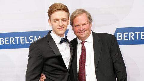 Timur Bartels und sein Vater bei der Bertelsmann Sommerparty im September 2016