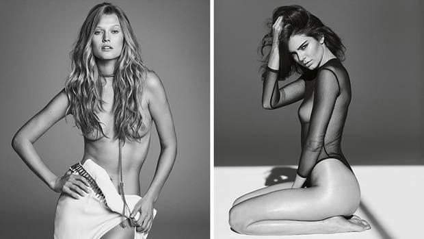 Victoria's Secret Models Toni Garrn und Kendall Jenner posieren für Russell James