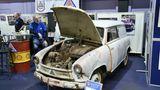 Ein Lloyd, Modell LKS 600 (LKW), produziert von 1955 bis 1961 - 596 ccm, 19 PS, Höchstgeschwindigkeit 100 km/h. Mit demersten Viertaktermit einer erhöhter Leistung von 19 PS kamen die Lloyd Motorenwerke den Kundenwünschen nach. Preis damals: 3570 DM.