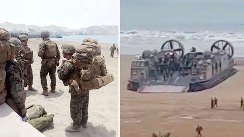 Videos auf Twitter sollen die mutmaßliche Landung von US-Truppen in Kolumbien zeigen, um eine Invasion in Venezuela vorzubereiten.