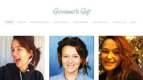 Drei Bilder des Teenagers auf der Website der Stiftung