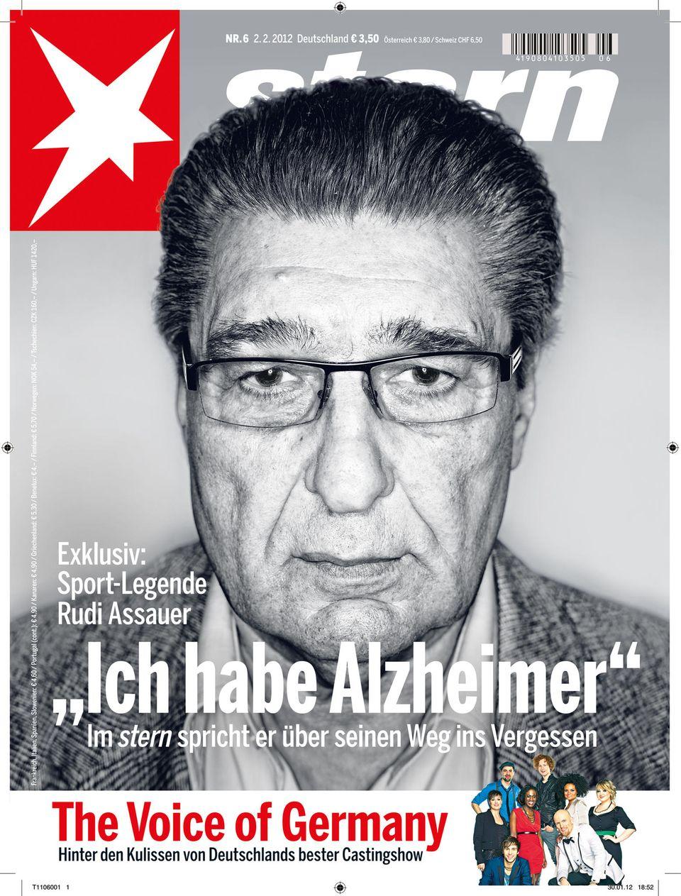 Titel-Geschichte von 2012: Als Rudi Assauer seine Alzheimer-Erkrankung im stern öffentlich machte