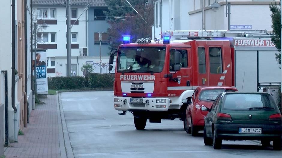 Feuerwehrfahrzeug in Heidelberg