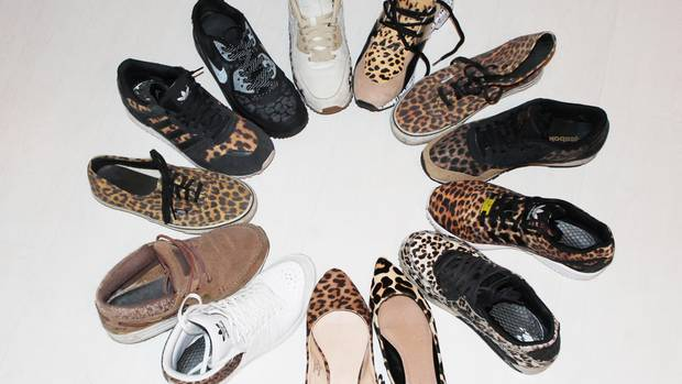 Meine Sneaker-Sammlung mit Leoparden-Print