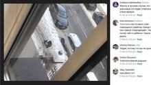 In Sankt Petersburg ist ein Student von einem Eiszapfen erschlagen worden. Augenzeugen haben den Unfall dokumentiert.