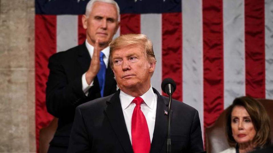 US-Präsident Donald Trump bei seiner Rede zur Lage der Nation.