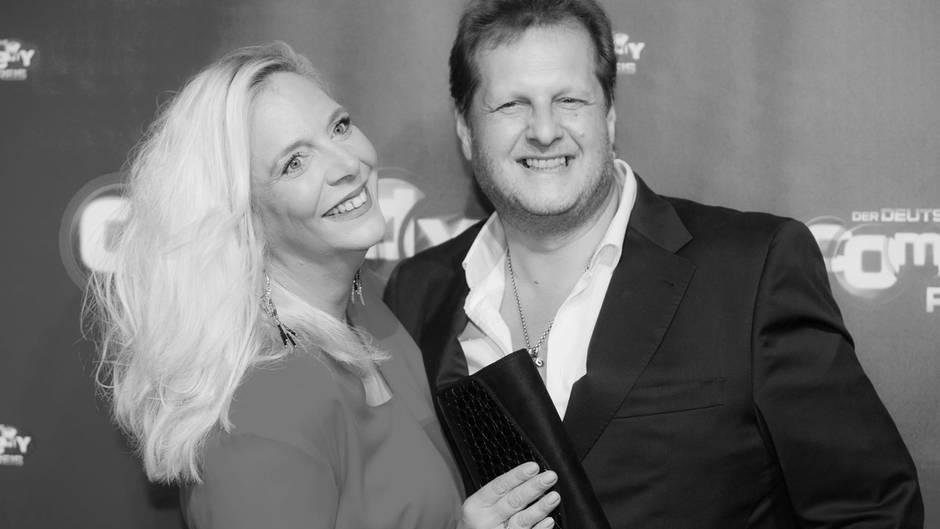 Daniela Büchner mit ihrem 2018 verstorbenen Mann Jens
