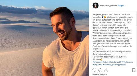 Schauspieler Benjamin Piwko auf Instagram