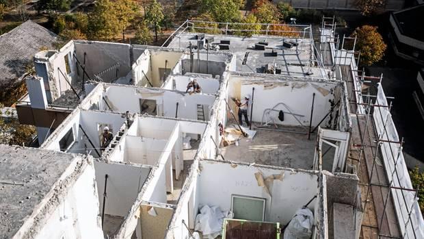 Rückbau: Alle Wohnungenwurden erst entkernt und von Asbest befreit