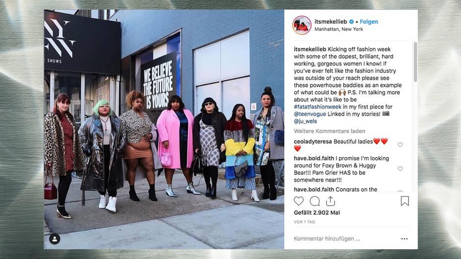 a728b03a5d363 New York Fashion Week: Auch dicke Frauen haben einen Platz in der ...