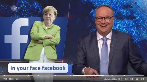 "Oliver Welke knüpft sich in der ""Heute-Show"" Facebook vor."