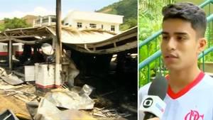 Flamengo Rio de Janeiro: 15-Jähriger Fußballer überlebt Feuer durch Zufall