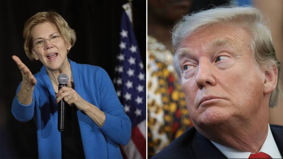 Elizabeth Warren tritt bei den Präsidentschaftswahlen gegen Donald Trump an.