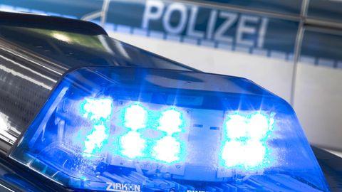 Blaulicht eines Polizei-Wagens