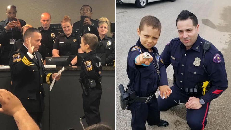 6-Jährige wird zur Polizistin ernannt – der Hintergrund ist sehr traurig