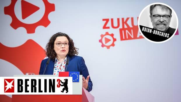 Andrea Nahles und die SPD haben ein Konzept, wie sie Hartz IV ändern wollen