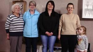 5 Frauen aus 5 Generationen in einer Familie - in Deutschland eine echte Seltenheit.
