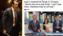 Fox-Moderator behauptet, sich nicht mehr die Hände zu waschen