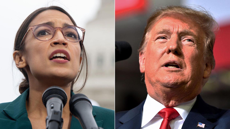 Zoff via Twitter: Die demokratische Kongressabgeordnete Alexandria Ocasio-Cortez und US-Präsident Donald Trump