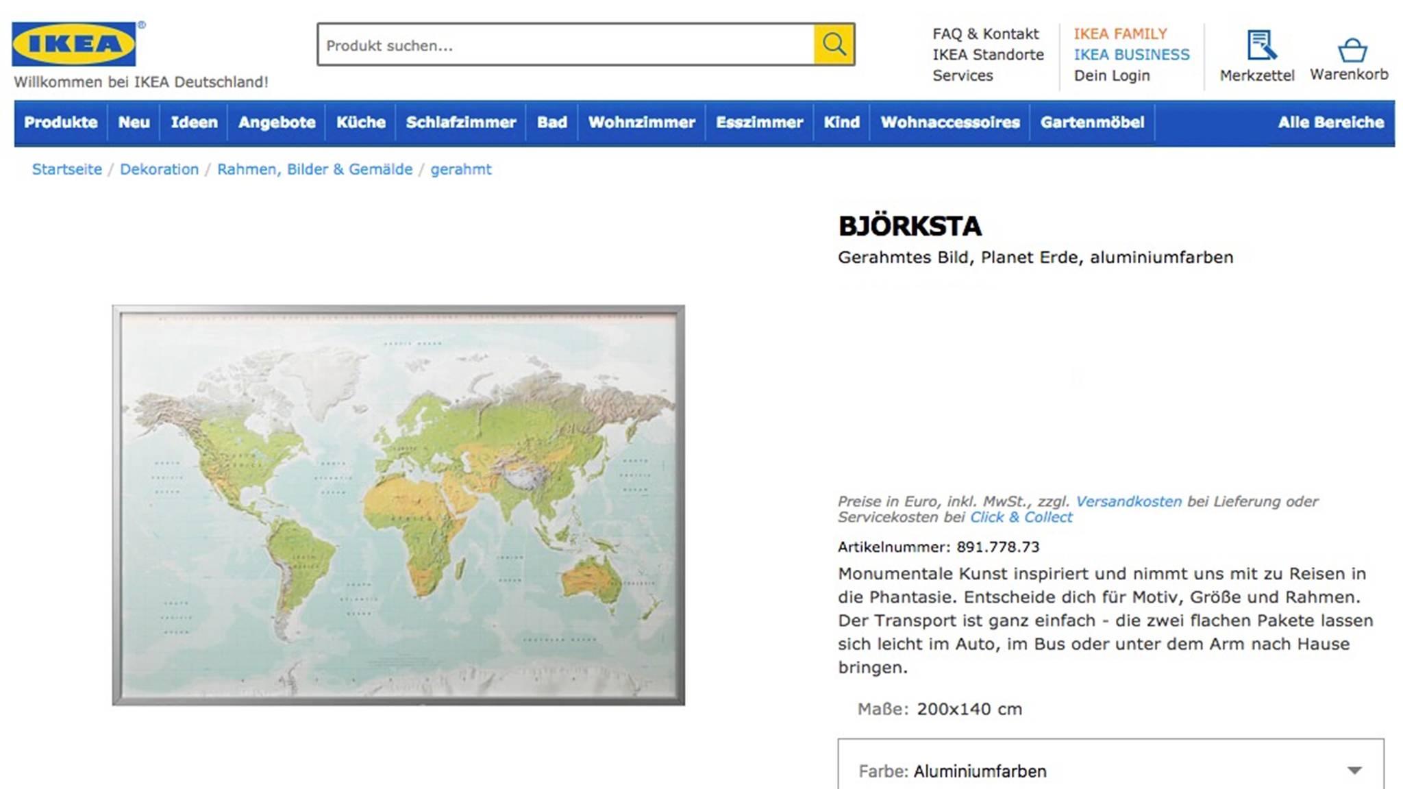 Bjorksta Ikea Vergisst Neuseeland Auf Karte Stern De