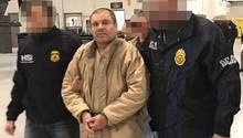 Joaquin Guzman Loera, auch El Chapo genannt, auf dem Weg