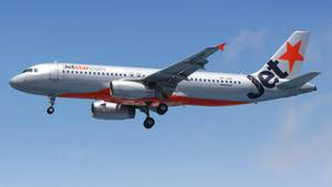 Ein Flugzeug der australischen Billig-Fluggesellschaft Jetstar.