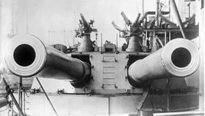 Der Schlachtkreuzer endete das Ende der vorhergehenden Linienschiffe ein.