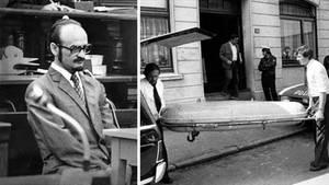 Fritz Honka in Hamburg vor Gericht, der Abtransport eines Leichnams
