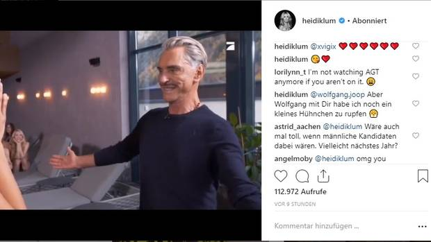 Heidi Klum postet GNTM-Video auf Instagram