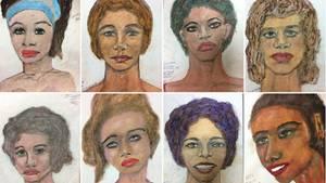 Diese Portraitzeichnungen mutmaßlicher Opfer hat derSerienmörderSamuel L. aus dem Gedächtnis angefertigt
