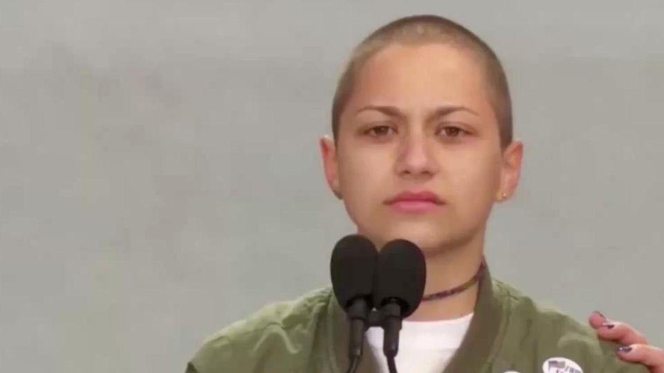 "Emma Gonzales hält ihre Rede beim ""March For Our Lives"""