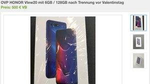 Ebay-Anzeige für ein Smartphone