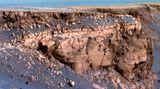 """Das Vorgebirge Cape St. Vincent amVictoria Crater.Während seiner Mission hatte """"Opportunity"""" eine Distanz von 45,2 Kilometern zurückgelegt und insgesamt 217.594 Aufnahmen vom Mars auf die Erde geschickt."""