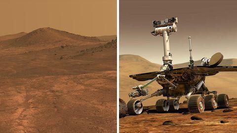 Er sollte nur 90 Tage arbeiten : 15 Jahre lieferte der kleine Roboter Bilder vom Mars – bis ein Sandsturm seine Mission beendete